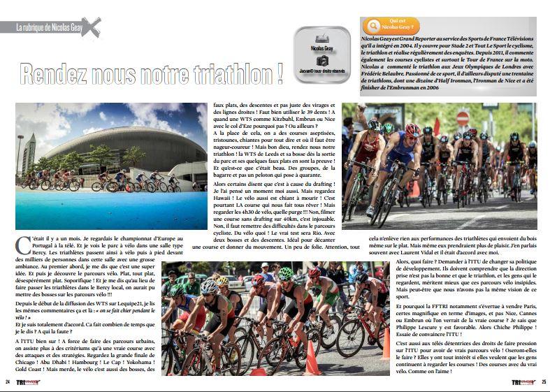 «Rendez nous notre triathlon !», C'est ce mois-ci dans TrimaX#154