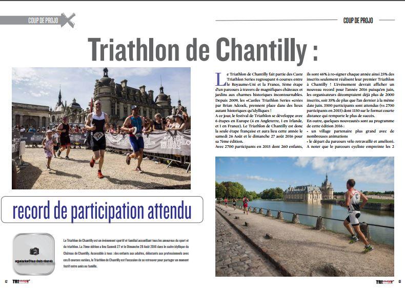 A découvrir dans TrimaX#154 : Triathlon de Chantilly : record de participation attendu