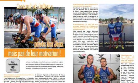 Arnaud et Julien : privés des Jeux mais pas de leur motivation !, retrouvez leur interview dans TrimaX#154