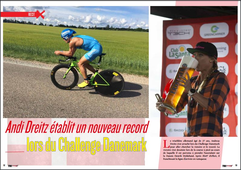 Andi Dreitz établit un nouveau record lors du Challenge Danemark, à lire dans TrimaX#155