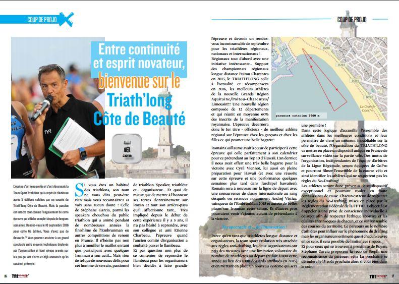 A ne pas manquer dans TrimaX#155 le Triathlon de Royan :  entre continuité et esprit novateur