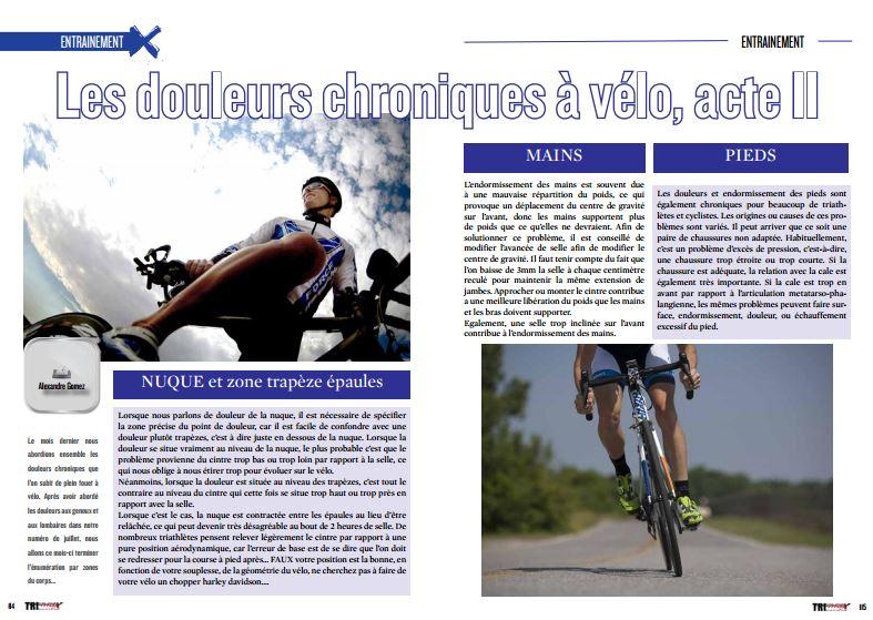 A lire dans TrimaX#155: les douleurs chroniques à vélo, acte II