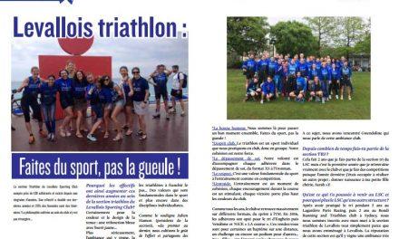 A lire dans TrimaX#155 : Levallois triathlon : Faites du sport, pas la gueule !