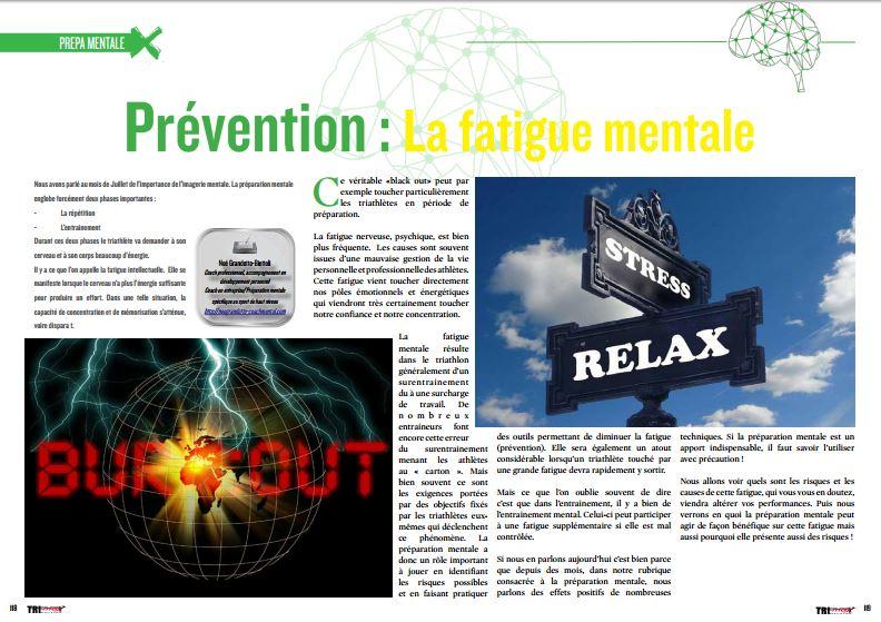 A lire dans TrimaX#155 : la prévention de la fatigue mentale