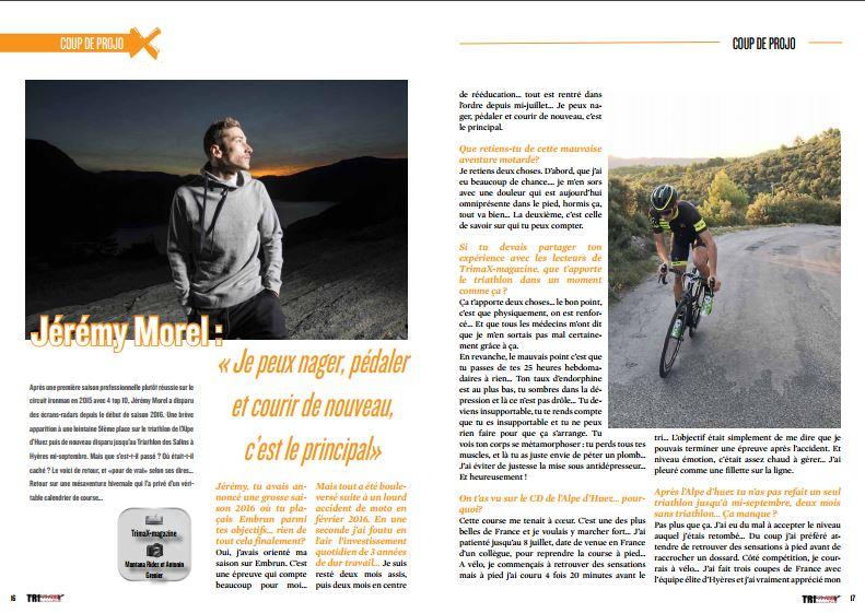 TrimaX#157 a rencontré Jérémy Morel