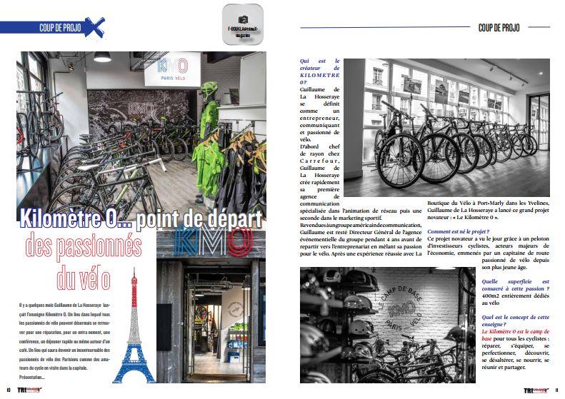 A lire dans TrimaX#157 : Kilomètre 0…point de départ des passionnés du vélo