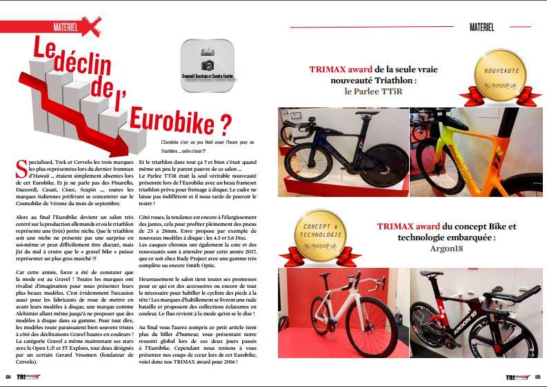 Le déclin de Eurobike ? c'est à lire dans TrimaX#157