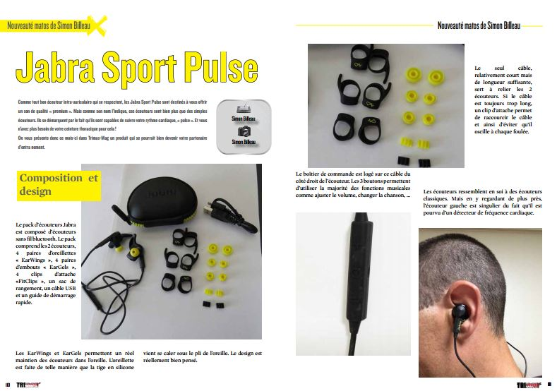 A découvrir ce mois-ci dans TrimaX#157 : Jabra Sport Pulse