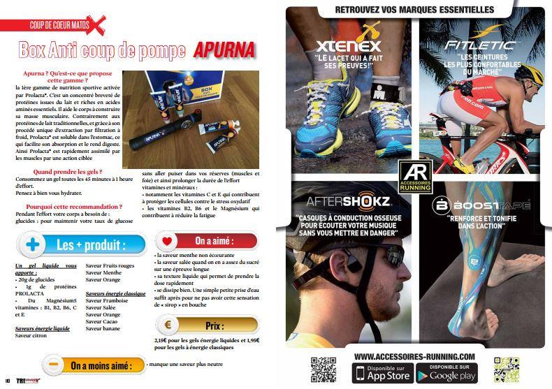 Découvrez dans TrimaX#158 : la Box Anti coup de pompe APURNA et le spécialiste de l'accessoire running