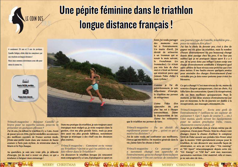 A lire dans TrimaX#159 : Une pépite féminine dans le triathlon longue distance français !