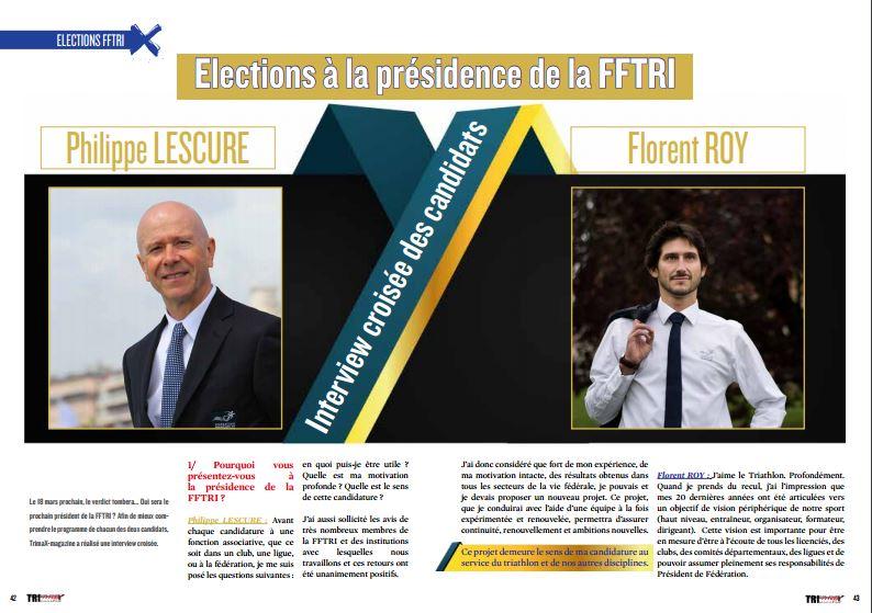 Retrouvez dans TrimaX#160 l'interview croisée des candidats à la présidence de la FFTRI