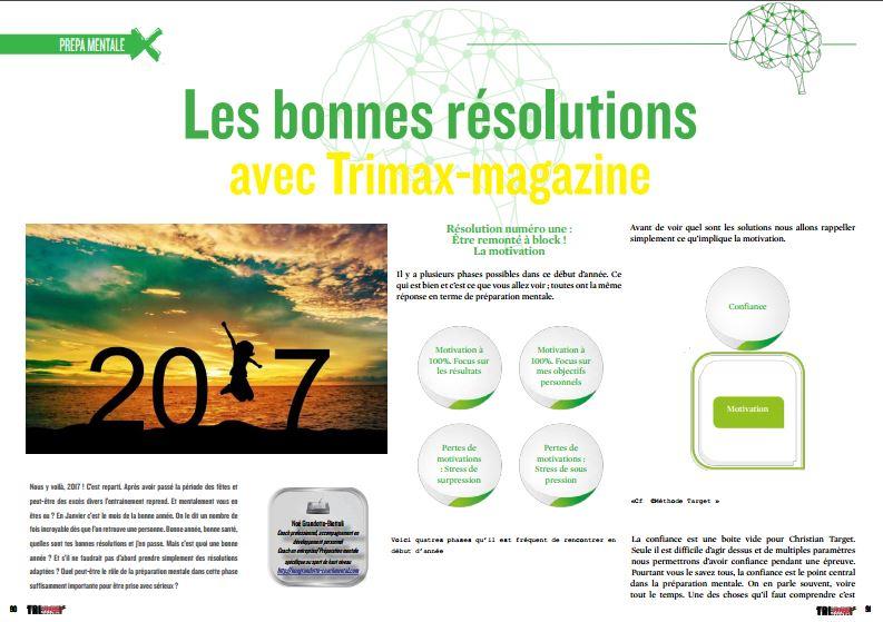 Les bonnes résolutions avec TrimaX#160