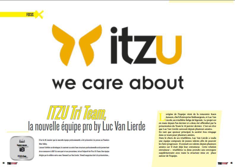 Découvrez avec TrimaX#160 ITZU Tri Team, la nouvelle équipe pro by Luc Van Lierde