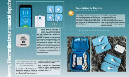 Bluetens, l'électrostimulateur connecté de poche ! à découvrir dans TrimaX#160