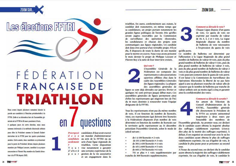 A ne pas manquer dans TrimaX#161 : Les élections FFTRI en7 questions