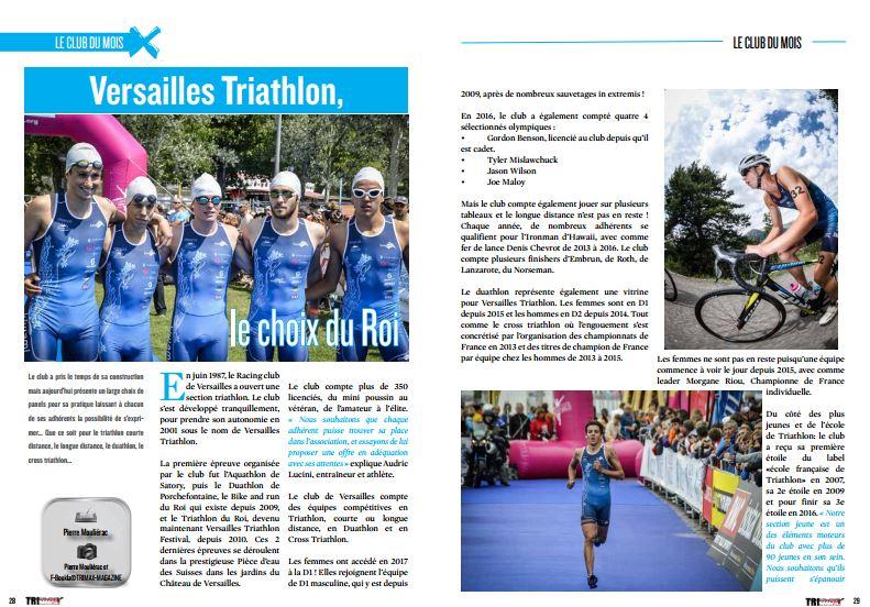 A lire dans TrimaX#161 : Versailles Triathlon, le choix du Roi