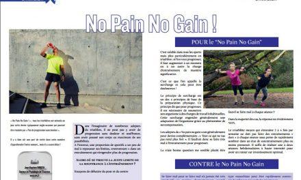 A lire dans TrimaX#162 :  No Pain No Gain !