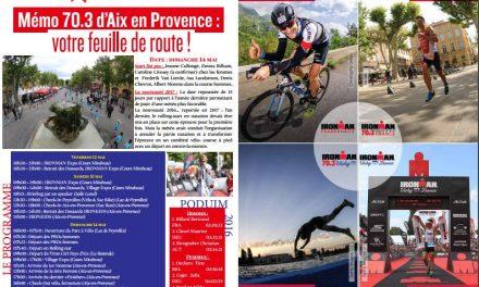 Retrouvez le Mémo de TrimaX#162 : 70.3 d'Aix en Provence