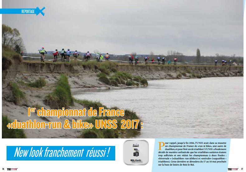 A lire dans TrimaX #163 : 1er championnat de France «duathlon-run & bike» UNSS 2017