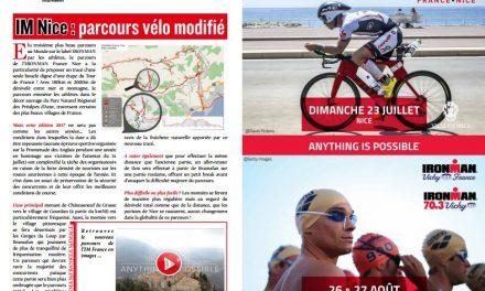 Info dans TrimaX#163 : le parcours vélo de l'IM Nice modifié