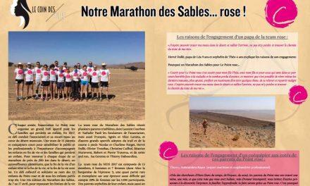 A ne pas manquer dans TrimaX#163 : Notre Marathon des Sables… rose !