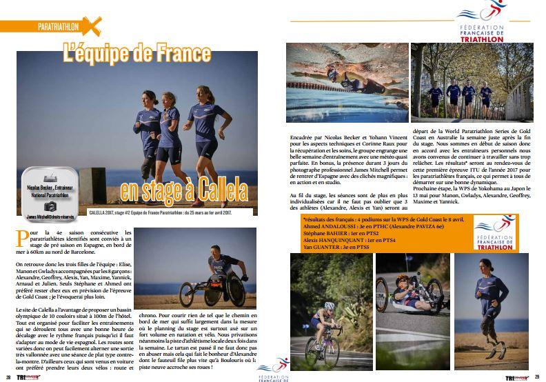 A découvrir dans TrimaX#163 : L'équipe de France en stage à Callela