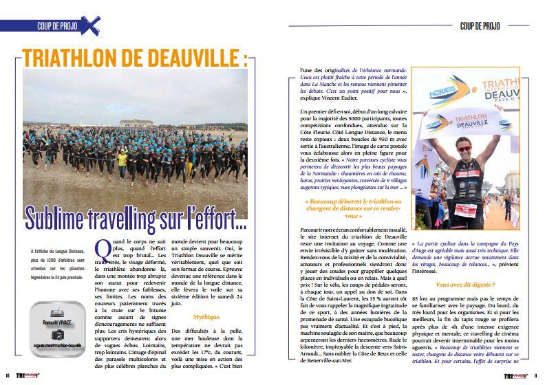 Coup de projo avec TrimaX#163 sur le Triathlon de Deauville