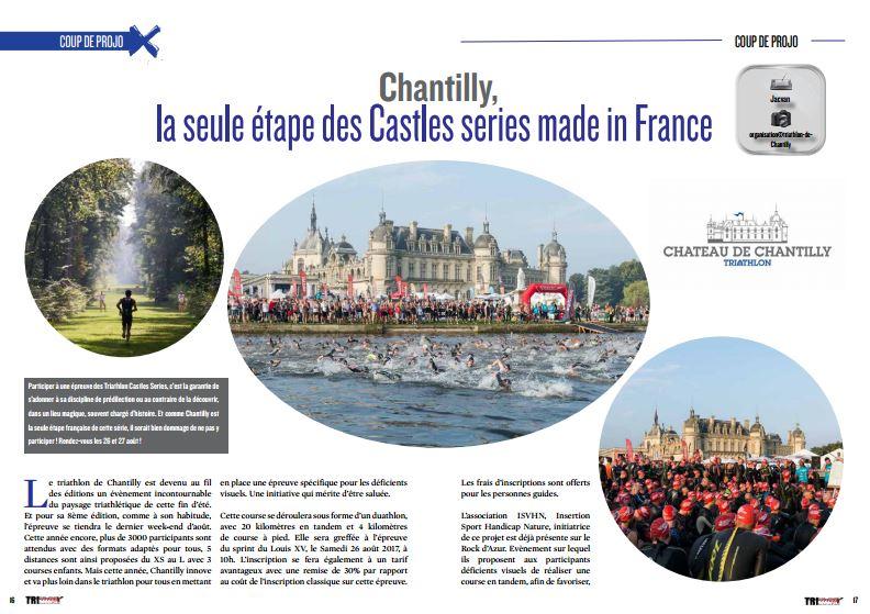 Chantilly, la seule étape des Castles series made in France à découvrir dans TrimaX#164
