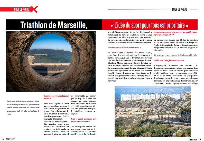 A découvrir dans TrimaX#164 : Triathlon de Marseille, « L'idée du sport pour tous est prioritaire »