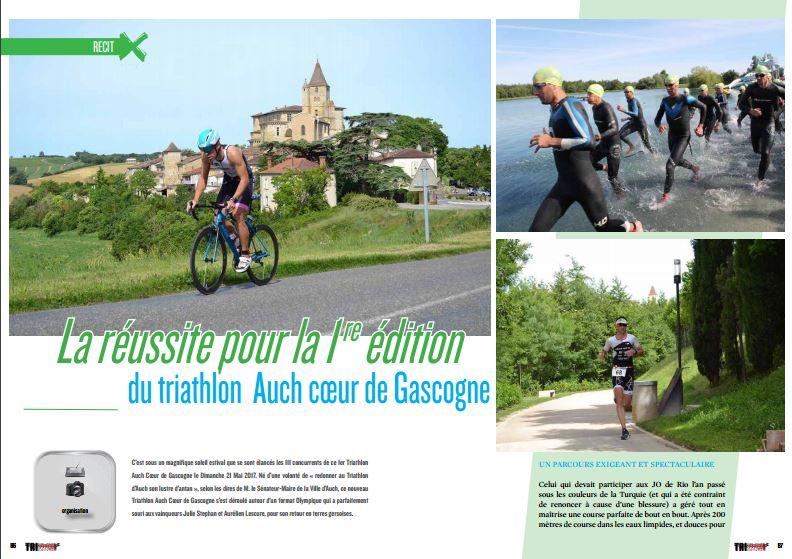 TrimaX#164 vous parle de la réussite pour la 1 re édition du triathlon Auch coeur de Gascogne