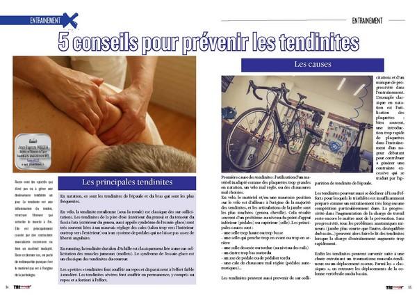 TrimaX#165 vous prodique 5 conseils pour prévenir les tendinites