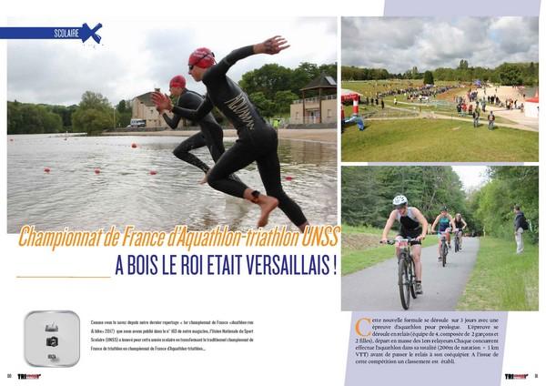 A lire dans TrimaX#165 :  Championnat de France d'Aquathlon-triathlon UNSS