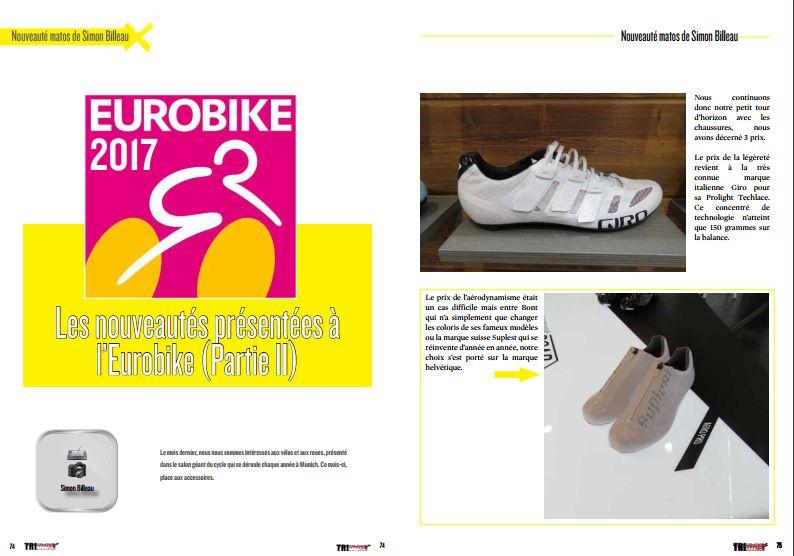 Ne manquez pas dans TrimaX#169 les nouveautés présentées à l'Eurobike (partie 2)