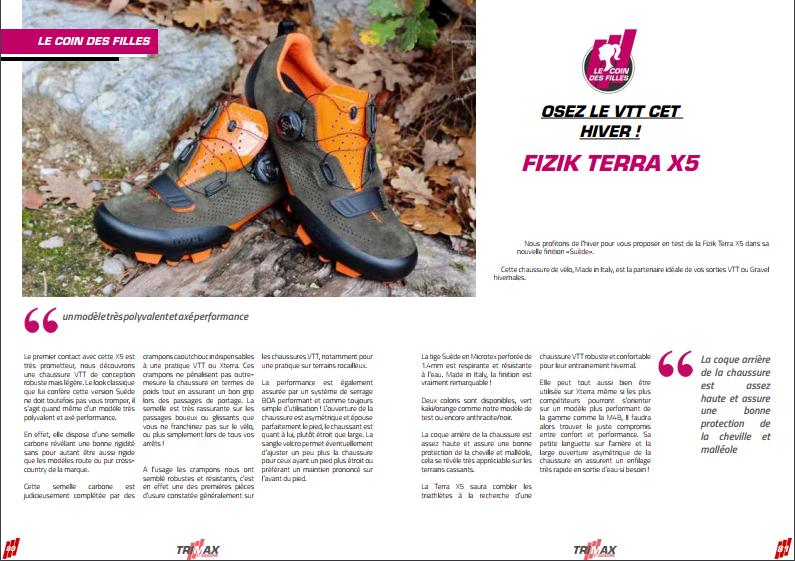 Les filles grâce à TrimaX#171 osez le VTT cet hiver avec la paire de FIZIK TERRA X5