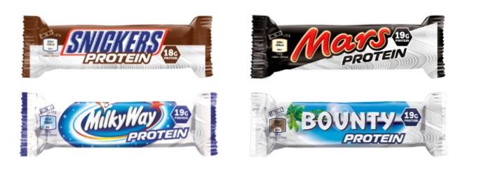 Toutes nouvelles barres protéinées Mars, Snickers, Bounty et Milky Way