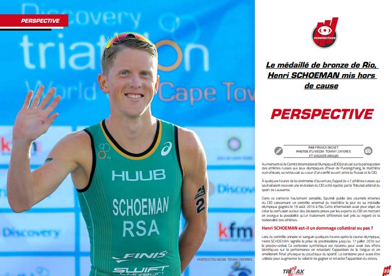 Le médaillé de bronze de Rio, Henri SCHOEMAN mis hors de cause