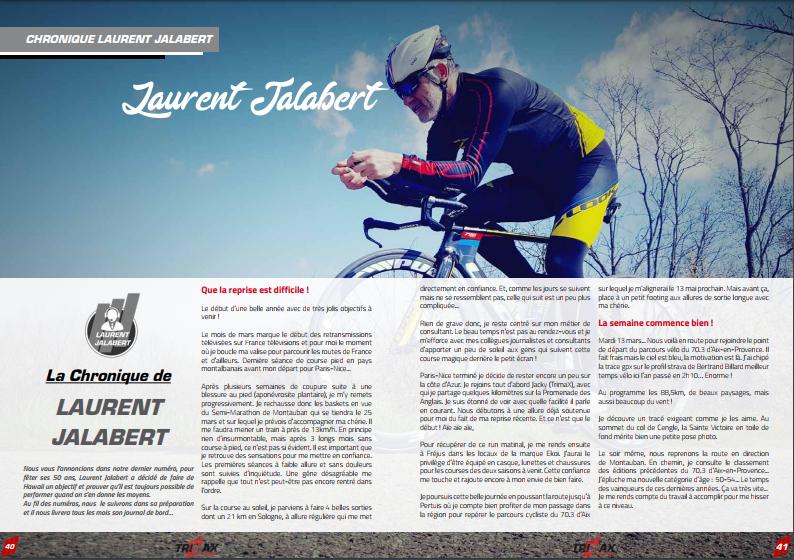 A ne pas manquer dans TrimaX#173 : La Chronique de Laurent JALABERT
