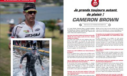 A lire dans TrimaX#173 l'interview de Cameron BROWN