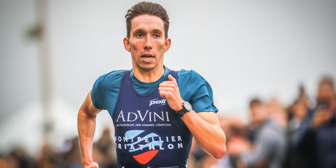 Pierre Le Corre au départ du triathlon Indoor de Liévin – Coupe d'Europe