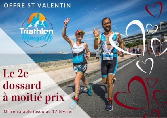 Triathlon de Marseille: Spécial St Valentin : le 2e dossard à moitié prix !